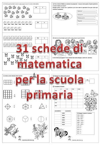 Esercizi di matematica per la scuola primaria   maestralu
