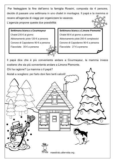 Schede di matematica natalizie per la scuola primaria ...